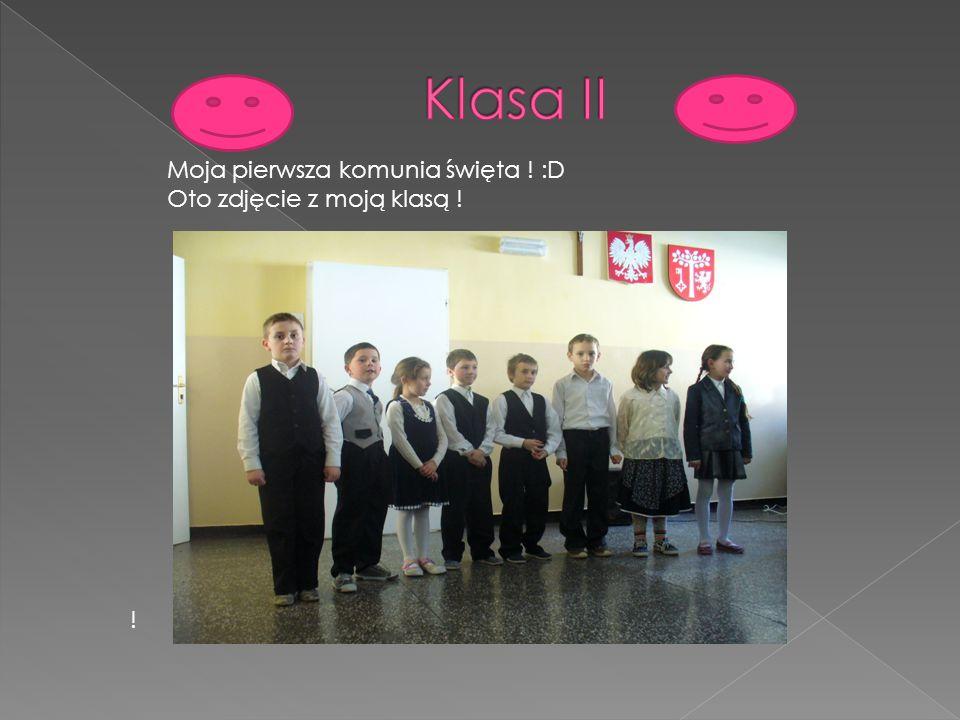 ! Moja pierwsza komunia święta ! :D Oto zdjęcie z moją klasą !
