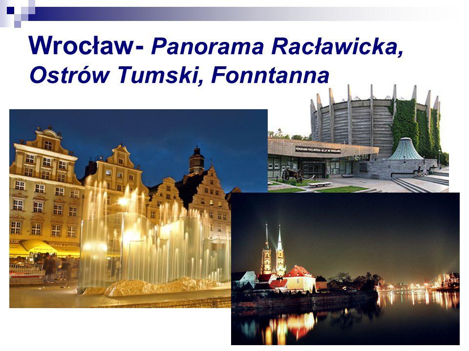 Wrocław- Panorama Racławicka, Ostrów Tumski, Fonntanna