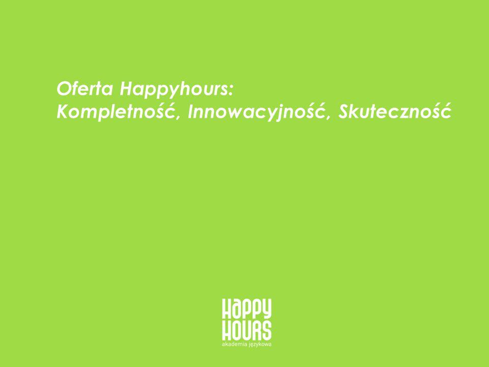 HappyHours - oferta dla firm 13 Skuteczność - profesjonalizm, elastyczność i motywacja Naszą skuteczność osiągamy w trzech etapach: 3) Przez motywację: Wykorzystamy autorską Metodę Motywacyjną, sesje motywacyjne Norman Benett i pasję naszych lektorów do skutecznego odpowiadania na potrzeby Twojej firmy i Twoich pracowników.