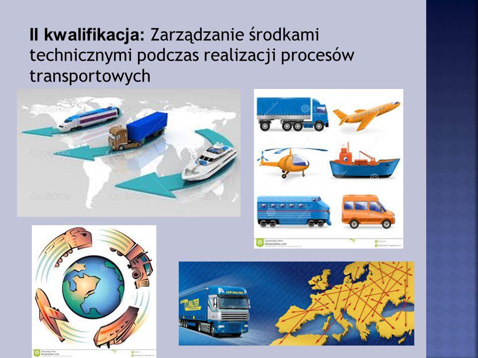 II kwalifikacja: Zarządzanie środkami technicznymi podczas realizacji procesów transportowych
