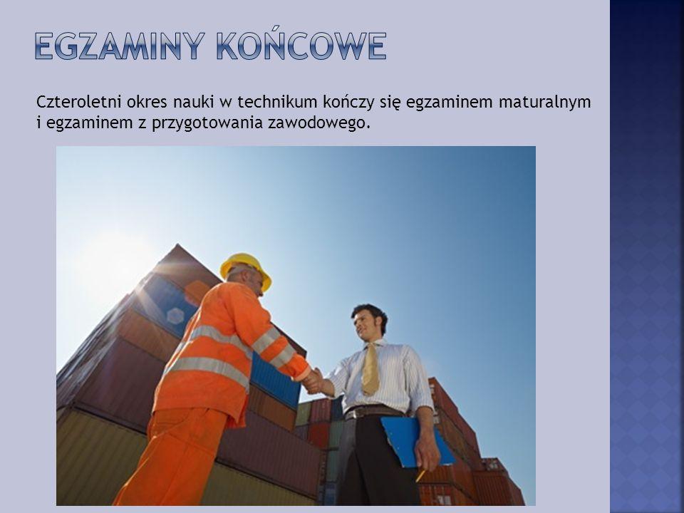 Czteroletni okres nauki w technikum to czas zdobywania kwalifikacji zawodowych, które po zakończeniu edukacji dają tytuł technika logistyka :
