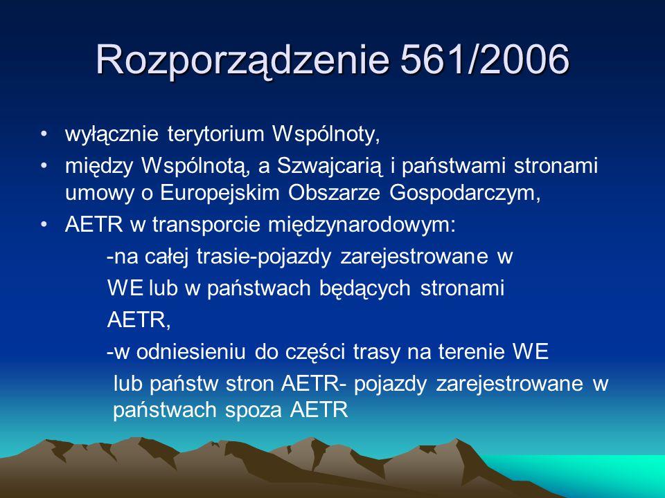 Rozporządzenie 561/2006 wyłącznie terytorium Wspólnoty, między Wspólnotą, a Szwajcarią i państwami stronami umowy o Europejskim Obszarze Gospodarczym,
