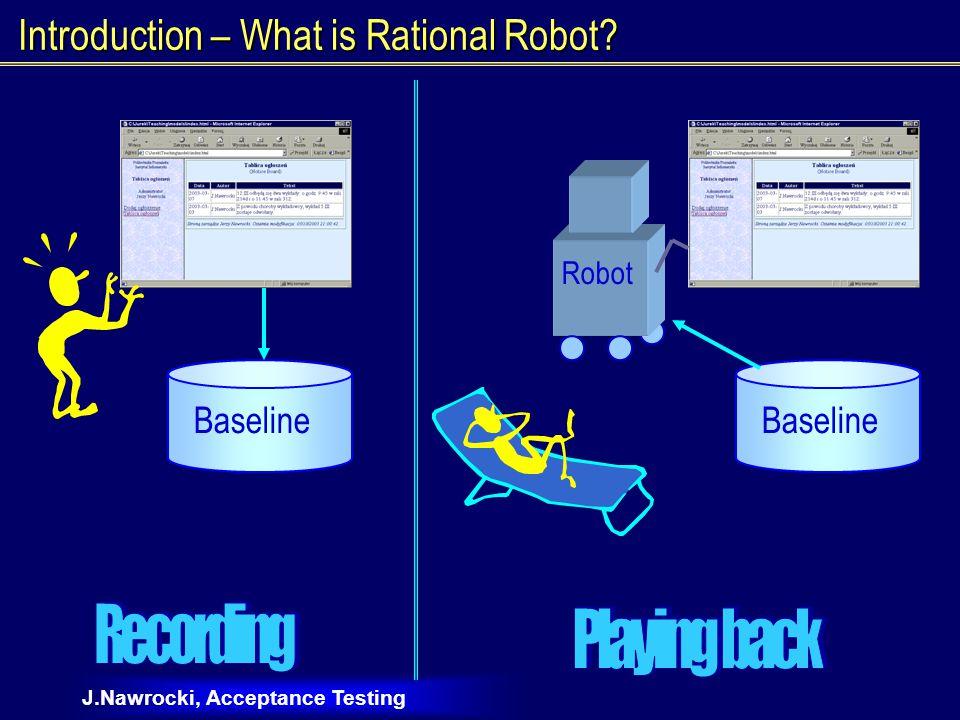 J.Nawrocki, Acceptance Testing Manual or Automatic Testing.