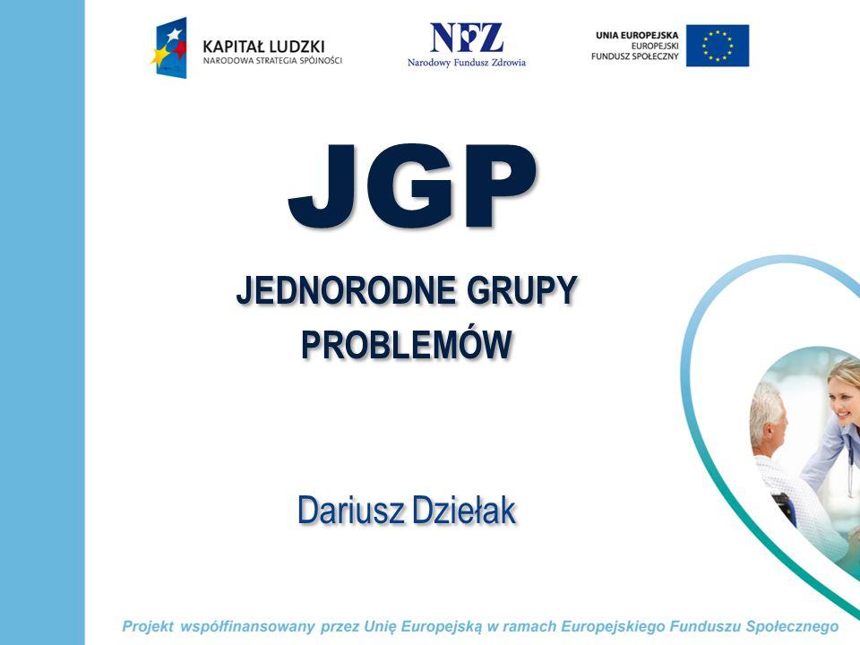 JGP JEDNORODNE GRUPY PROBLEMÓW Dariusz Dziełak JEDNORODNE GRUPY PROBLEMÓW Dariusz Dziełak