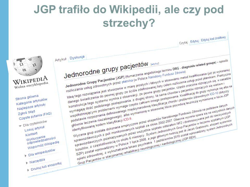 JGP trafiło do Wikipedii, ale czy pod strzechy?