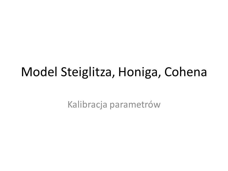 Model Steiglitza, Honiga, Cohena Kalibracja parametrów