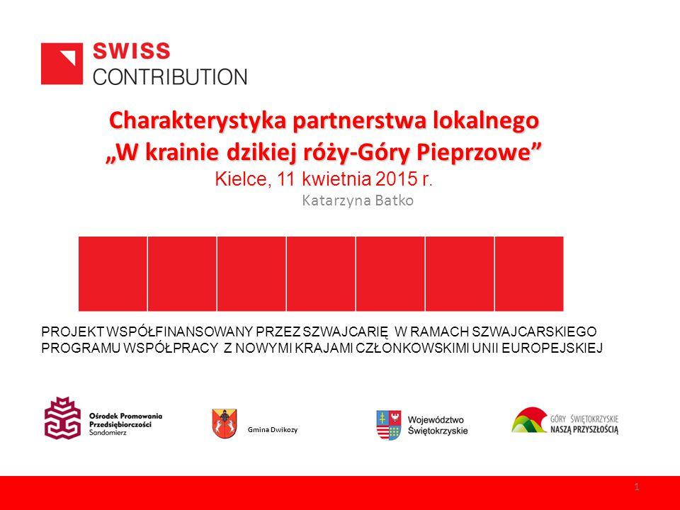 """Charakterystyka partnerstwa lokalnego """"W krainie dzikiej róży-Góry Pieprzowe Kielce, 11 kwietnia 2015 r."""