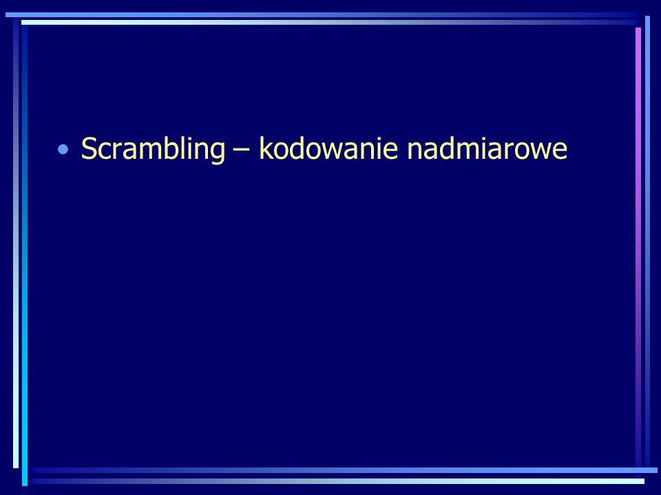 Scrambling – kodowanie nadmiarowe