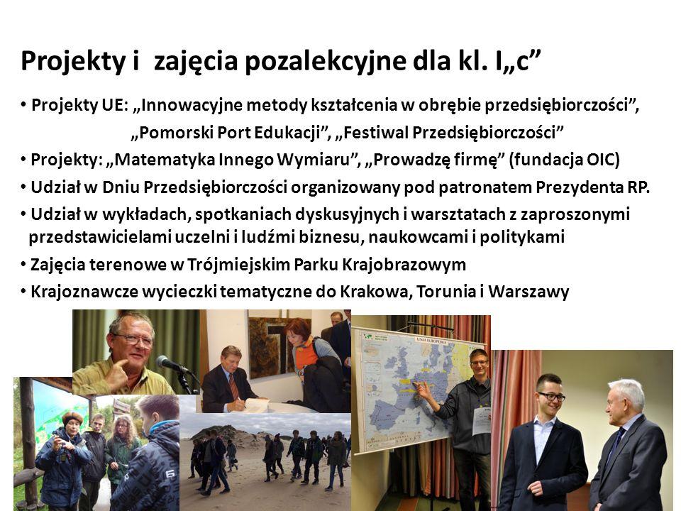 Projekty i zajęcia pozalekcyjne dla kl.