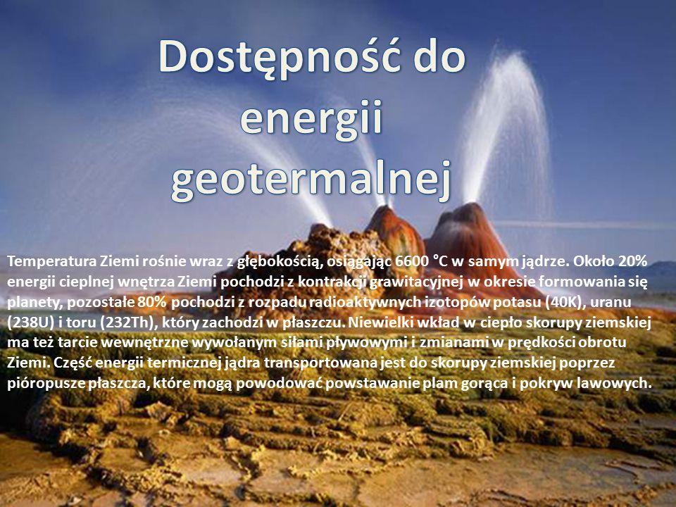 Temperatura Ziemi rośnie wraz z głębokością, osiągając 6600 °C w samym jądrze. Około 20% energii cieplnej wnętrza Ziemi pochodzi z kontrakcji grawitac