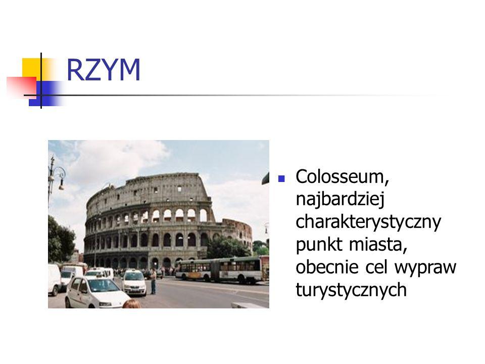 RZYM Colosseum, najbardziej charakterystyczny punkt miasta, obecnie cel wypraw turystycznych