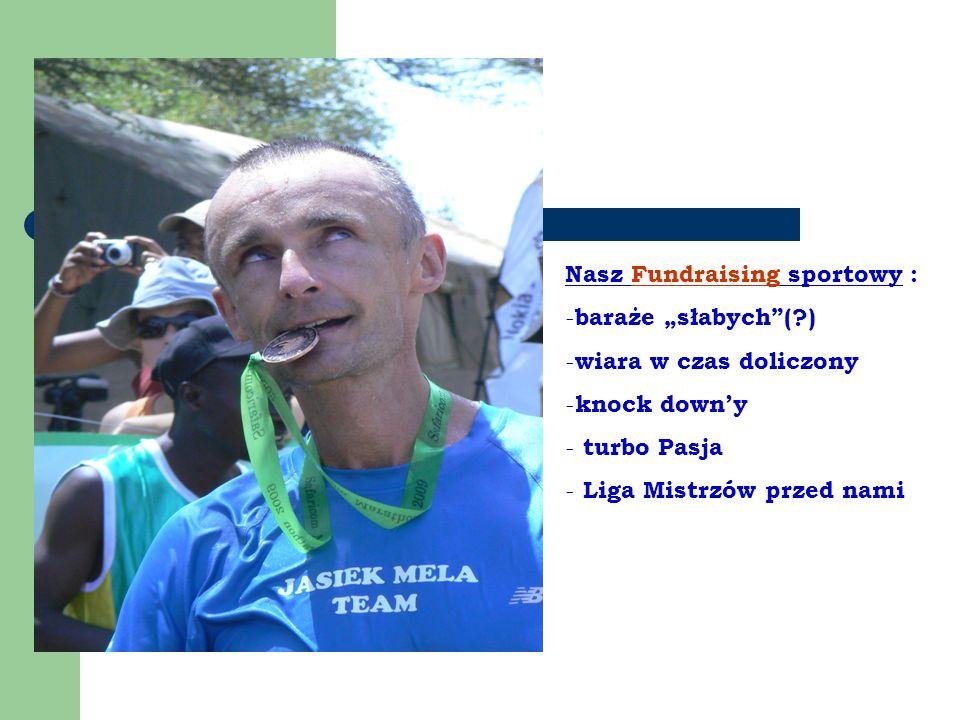 """Nasz Fundraising sportowy : - baraże """"słabych ( ) - wiara w czas doliczony - knock down'y - turbo Pasja - Liga Mistrzów przed nami"""
