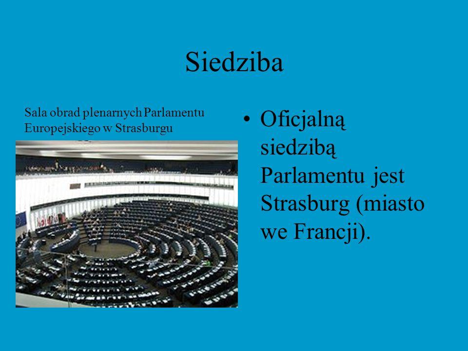 Siedziba W Bruksli (Belgia) odbywa się większość obrad parlamentu i mieszczą się biura poselskie, a także komisje parlamentarne i władze klubów.