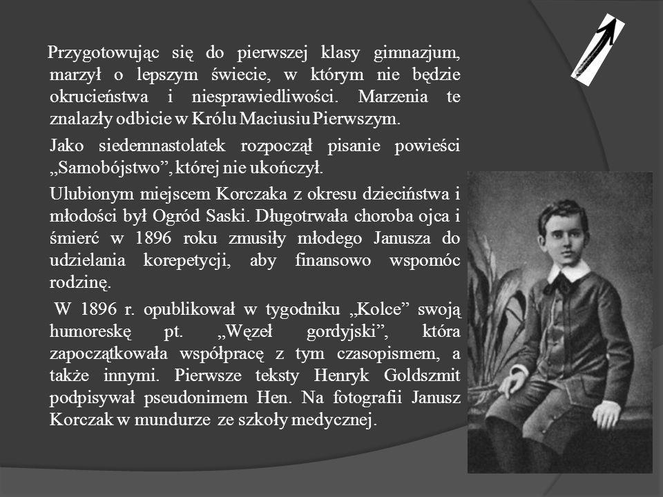 W roku 1898 zdał maturę i zapisał się na Wydział Lekarski Cesarskiego Uniwersytetu Warszawskiego.