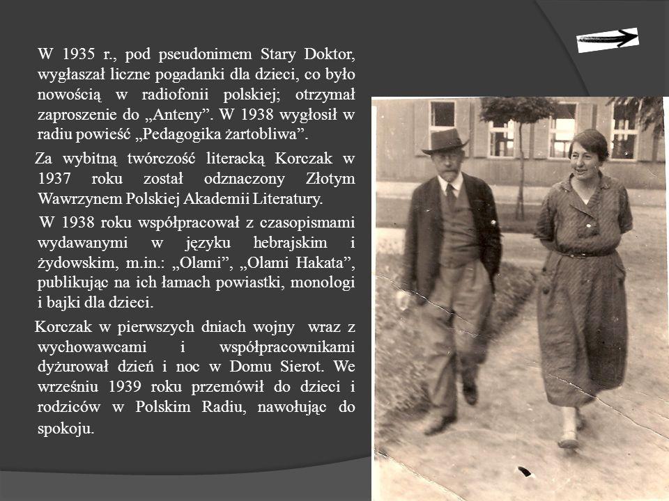 """Ostatnie zapiski Korczaka zawarte są w """"Pamiętniku z 1942 r."""