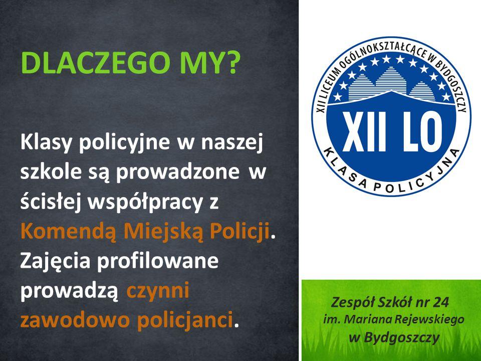Klasy policyjne w naszej szkole są prowadzone w ścisłej współpracy z Komendą Miejską Policji. Zajęcia profilowane prowadzą czynni zawodowo policjanci.