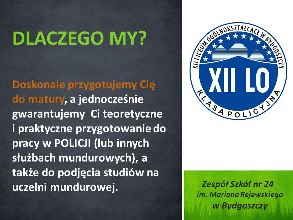 Doskonale przygotujemy Cię do matury, a jednocześnie gwarantujemy Ci teoretyczne i praktyczne przygotowanie do pracy w POLICJI (lub innych służbach mu