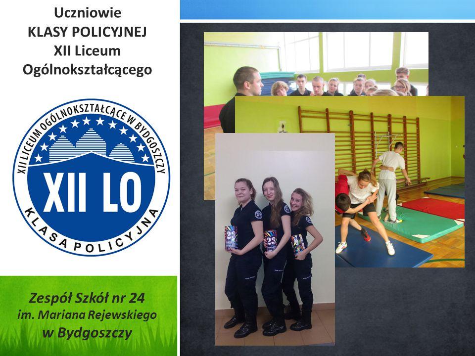Uczniowie KLASY POLICYJNEJ XII Liceum Ogólnokształcącego Zespół Szkół nr 24 im.