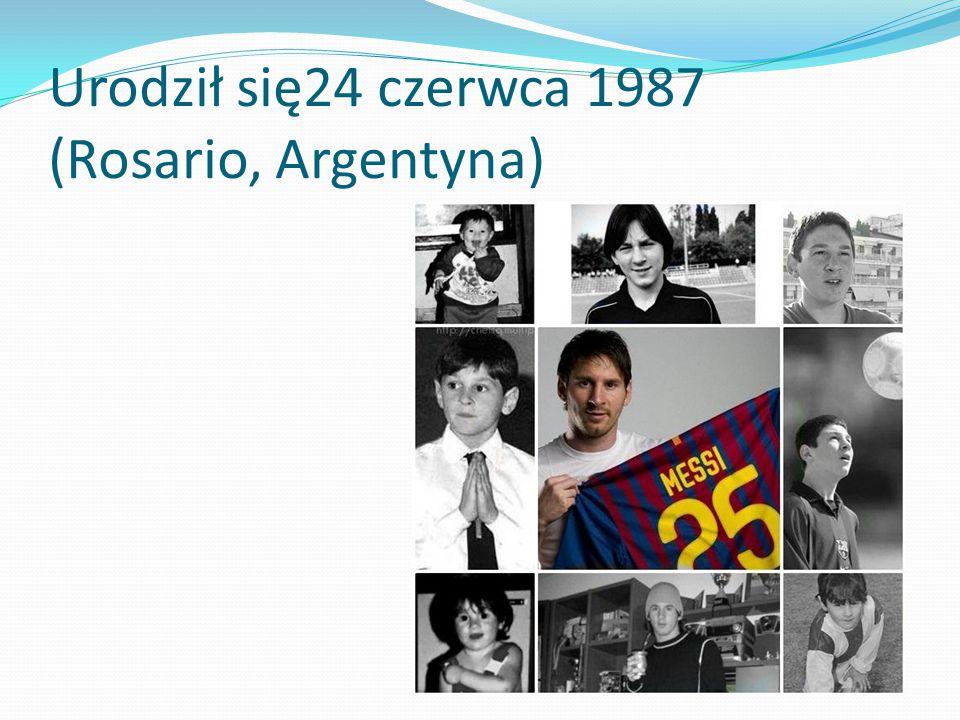 Urodził się24 czerwca 1987 (Rosario, Argentyna)
