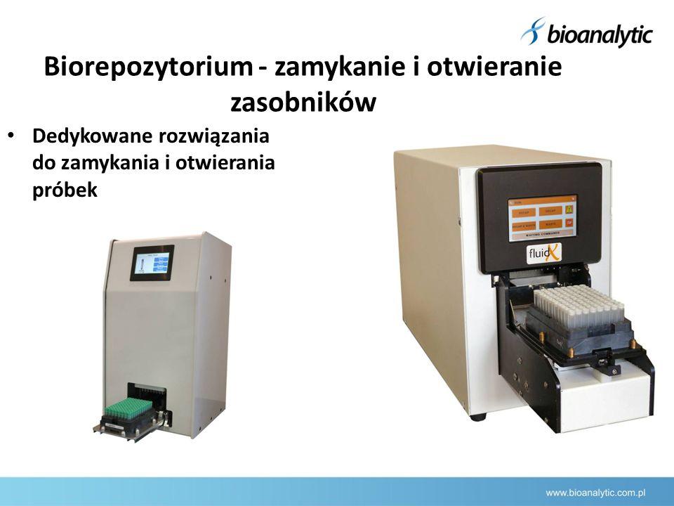 Biorepozytorium - zamykanie i otwieranie zasobników Dedykowane rozwiązania do zamykania i otwierania próbek