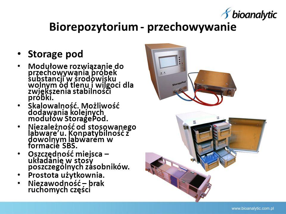 Biorepozytorium - przechowywanie Storage pod Modułowe rozwiązanie do przechowywania próbek substancji w środowisku wolnym od tlenu i wilgoci dla zwiększenia stabilności próbki.