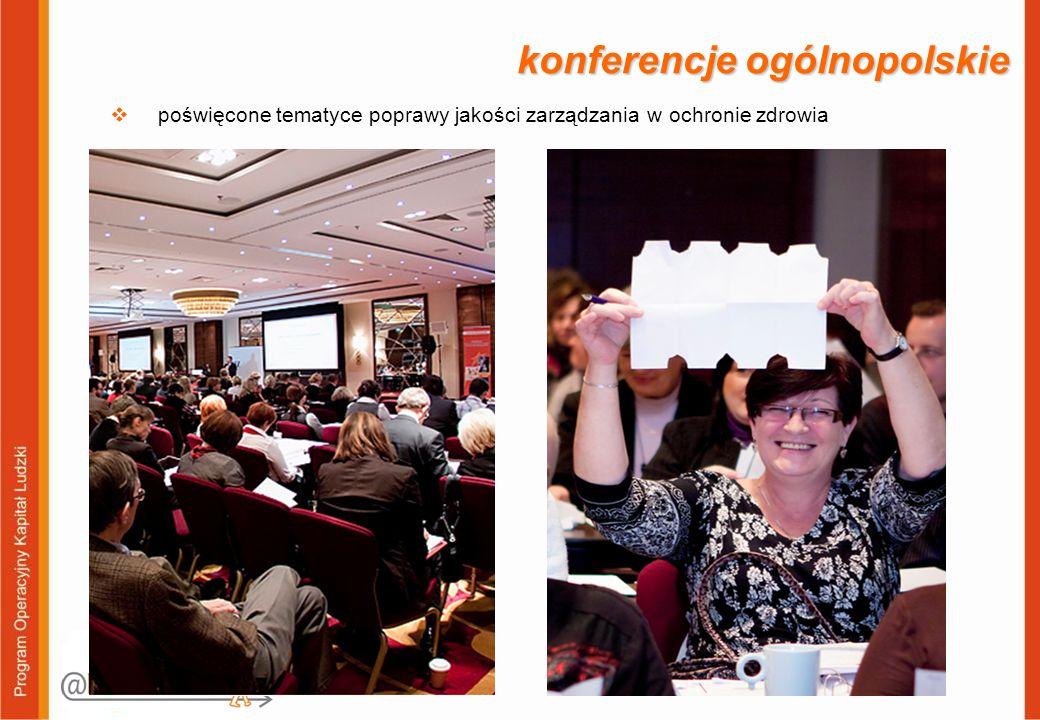 konferencje ogólnopolskie  poświęcone tematyce poprawy jakości zarządzania w ochronie zdrowia