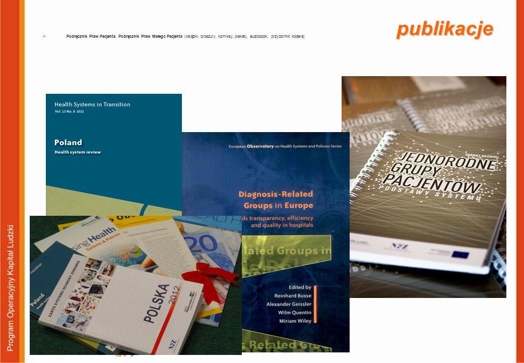 publikacje  Podręcznik Praw Pacjenta, Podręcznik Praw Małego Pacjenta (książki, broszury, komiksy, plakaty, audiobook, przyborniki kodera)