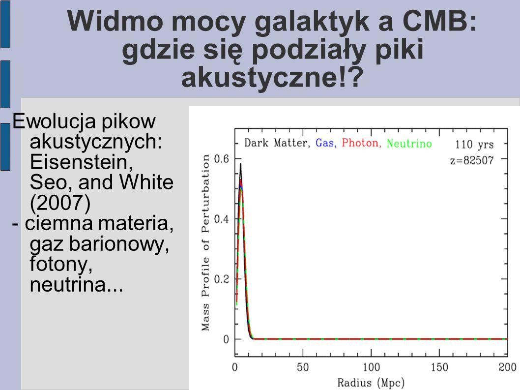 Widmo mocy galaktyk a CMB: gdzie się podziały piki akustyczne!.
