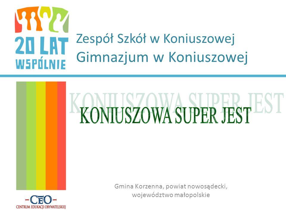 Zespół Szkół w Koniuszowej Gimnazjum w Koniuszowej Gmina Korzenna, powiat nowosądecki, województwo małopolskie