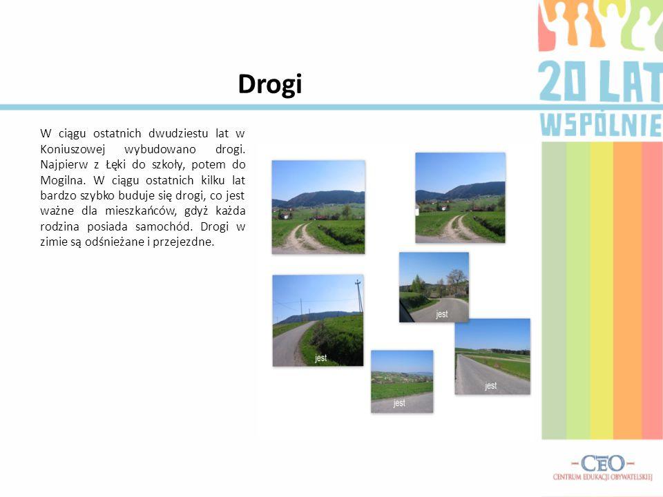 Drogi W ciągu ostatnich dwudziestu lat w Koniuszowej wybudowano drogi.