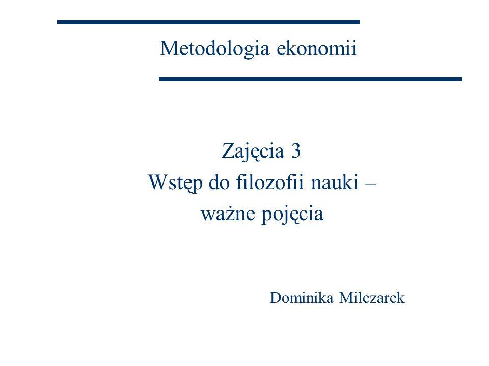 Model hipotetyczno-dedukcyjny Wszystkie wyjaśnienia naukowe mają wspólną strukturę logiczną.