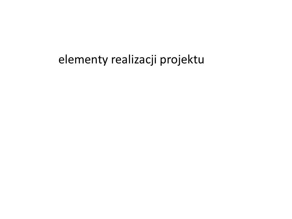 elementy realizacji projektu