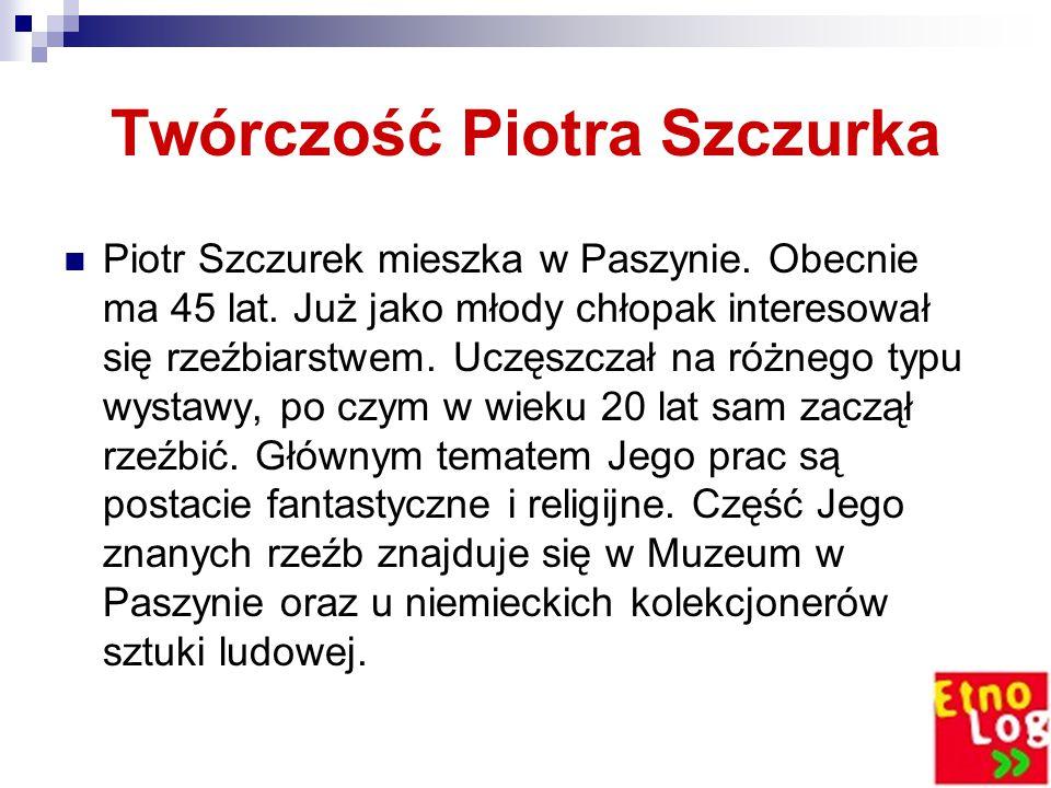 Twórczość Piotra Szczurka Piotr Szczurek mieszka w Paszynie.