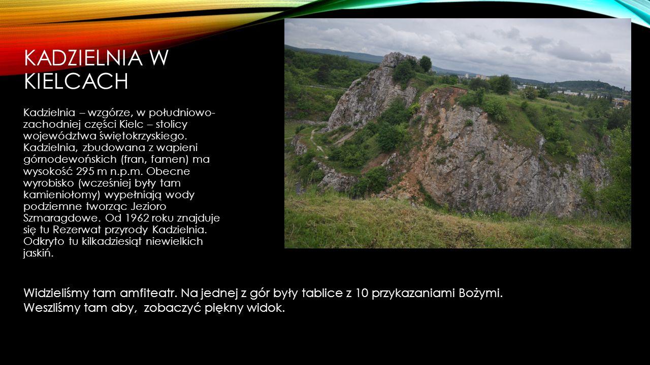 KADZIELNIA W KIELCACH Kadzielnia – wzgórze, w południowo- zachodniej części Kielc – stolicy województwa świętokrzyskiego. Kadzielnia, zbudowana z wapi
