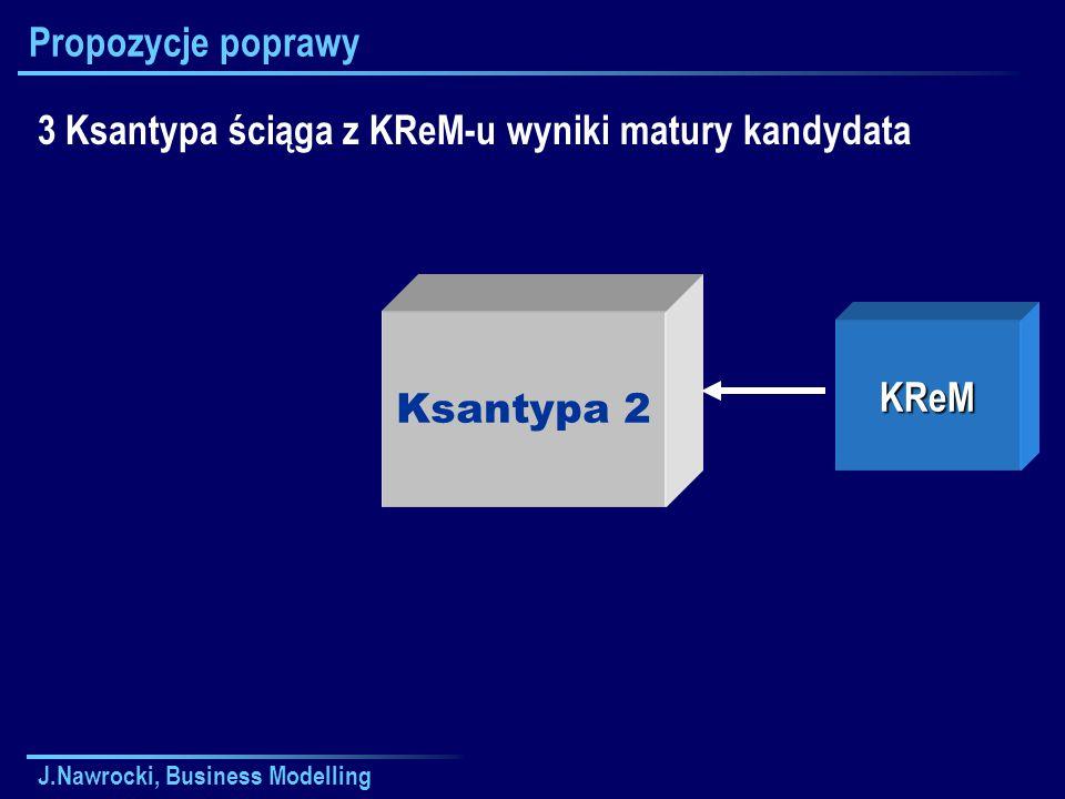 J.Nawrocki, Business Modelling Propozycje poprawy Ksantypa 2 3 Ksantypa ściąga z KReM-u wyniki matury kandydata KReM