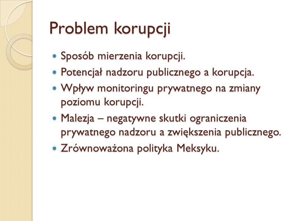 Problem korupcji Sposób mierzenia korupcji. Sposób mierzenia korupcji.