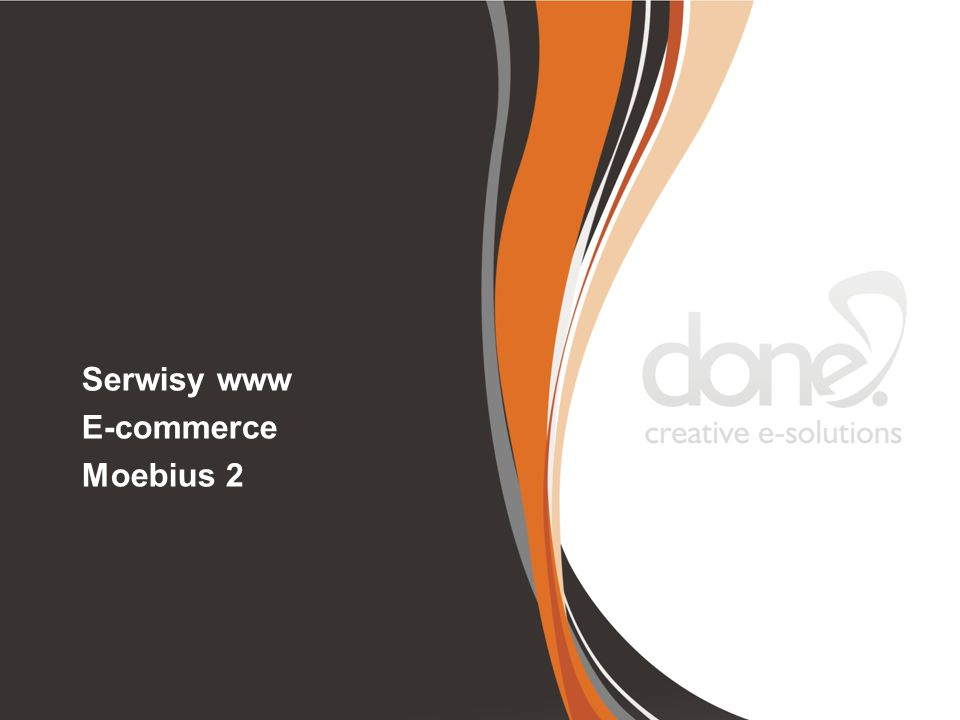 Serwisy www E-commerce Moebius 2