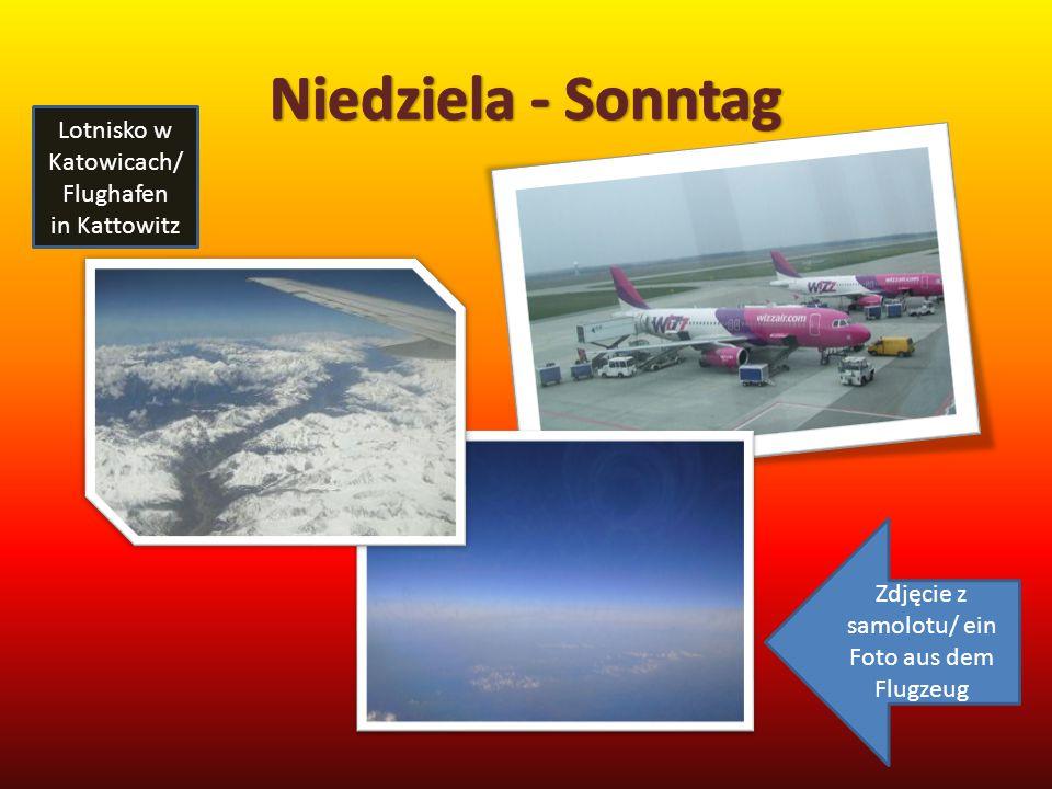 Lotnisko w Katowicach/ Flughafen in Kattowitz Zdjęcie z samolotu/ ein Foto aus dem Flugzeug