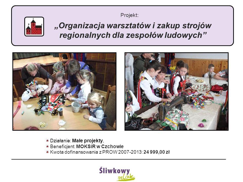 """Projekt: """"Organizacja warsztatów i zakup strojów regionalnych dla zespołów ludowych"""" Działanie: Małe projekty, Beneficjent: MOKSiR w Czchowie Kwota do"""