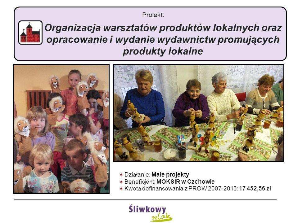 Projekt: Organizacja warsztatów produktów lokalnych oraz opracowanie i wydanie wydawnictw promujących produkty lokalne Działanie: Małe projekty Benefi