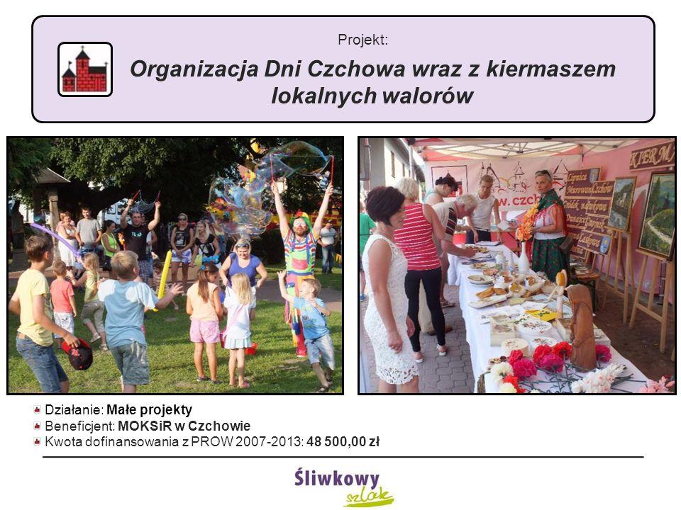 Projekt: Organizacja Dni Czchowa wraz z kiermaszem lokalnych walorów Działanie: Małe projekty Beneficjent: MOKSiR w Czchowie Kwota dofinansowania z PR