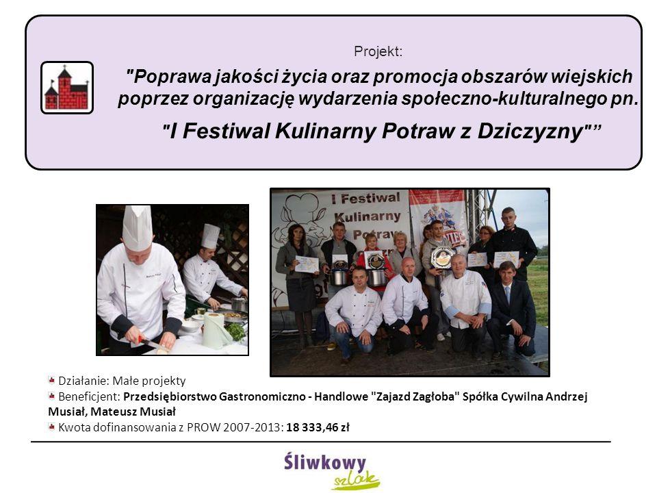 Projekt: Tereny aktywności sportowej w Czchowie Działanie: Małe projekty Beneficjent: Gmina Czchów Kwota dofinansowania z PROW 2007-2013: 40 136,34 zł