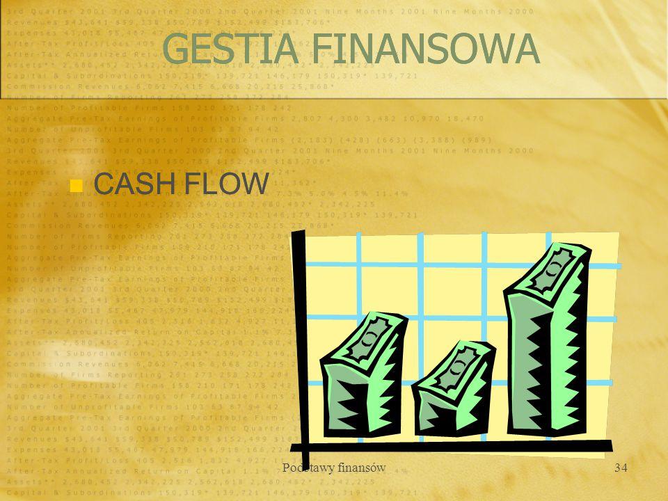 Podstawy finansów34 CASH FLOW GESTIA FINANSOWA
