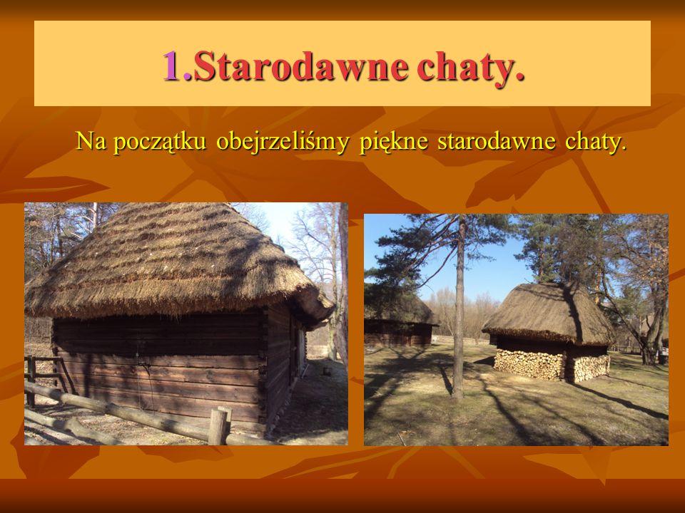 1.Starodawne chaty. Na początku obejrzeliśmy piękne starodawne chaty.