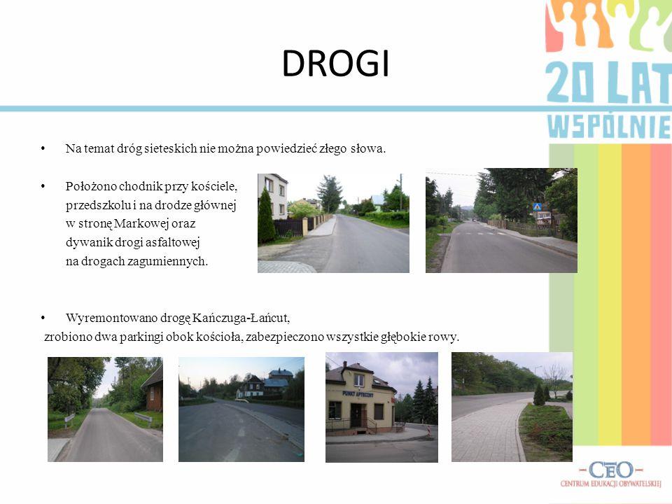DROGI Położono asfalt o długości 3 km.