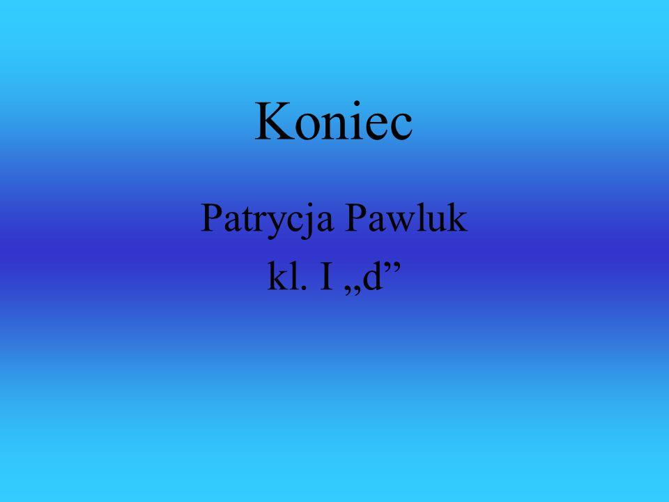 """Koniec Patrycja Pawluk kl. I """"d"""""""