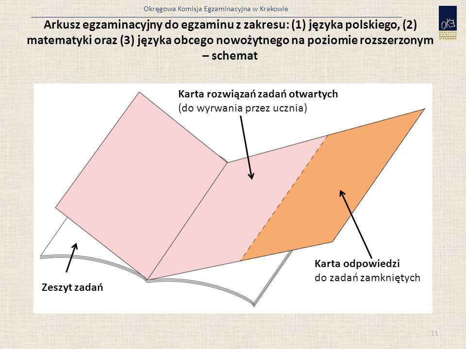 Okręgowa Komisja Egzaminacyjna w Krakowie Arkusz egzaminacyjny do egzaminu z zakresu: (1) języka polskiego, (2) matematyki oraz (3) języka obcego nowo