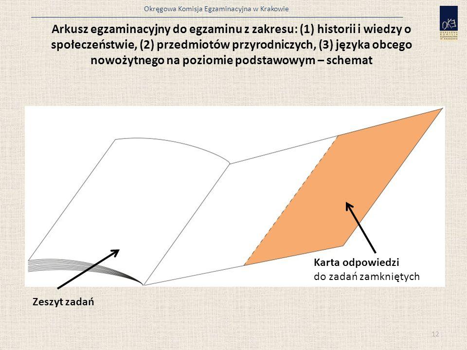 Okręgowa Komisja Egzaminacyjna w Krakowie Arkusz egzaminacyjny do egzaminu z zakresu: (1) historii i wiedzy o społeczeństwie, (2) przedmiotów przyrodn