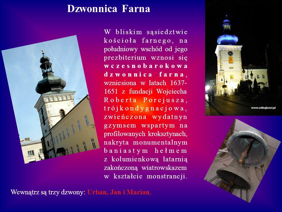 Kościół Farny pod wezwaniem Świętej Trójcy z Kaplicą Porcjuszów (XVII wiek). Najbardziej charakterystycznym elementem są mury gotyckie z barokowym wys