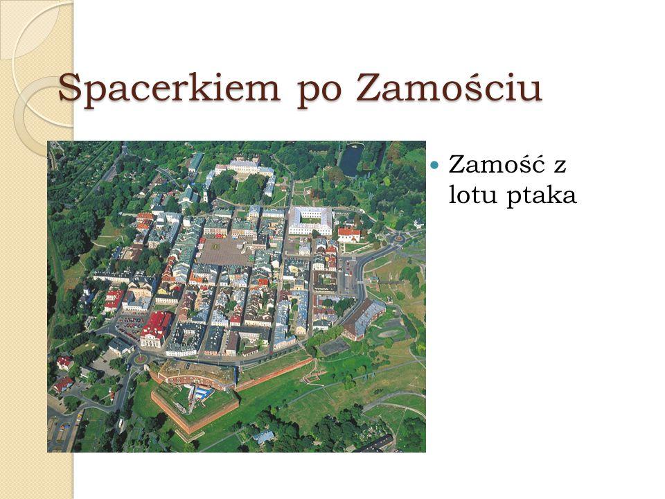 Rynek Solny Ze swymi podcieniowymi kamienicami rozciąga się aż do Akademii Zamojskiej.